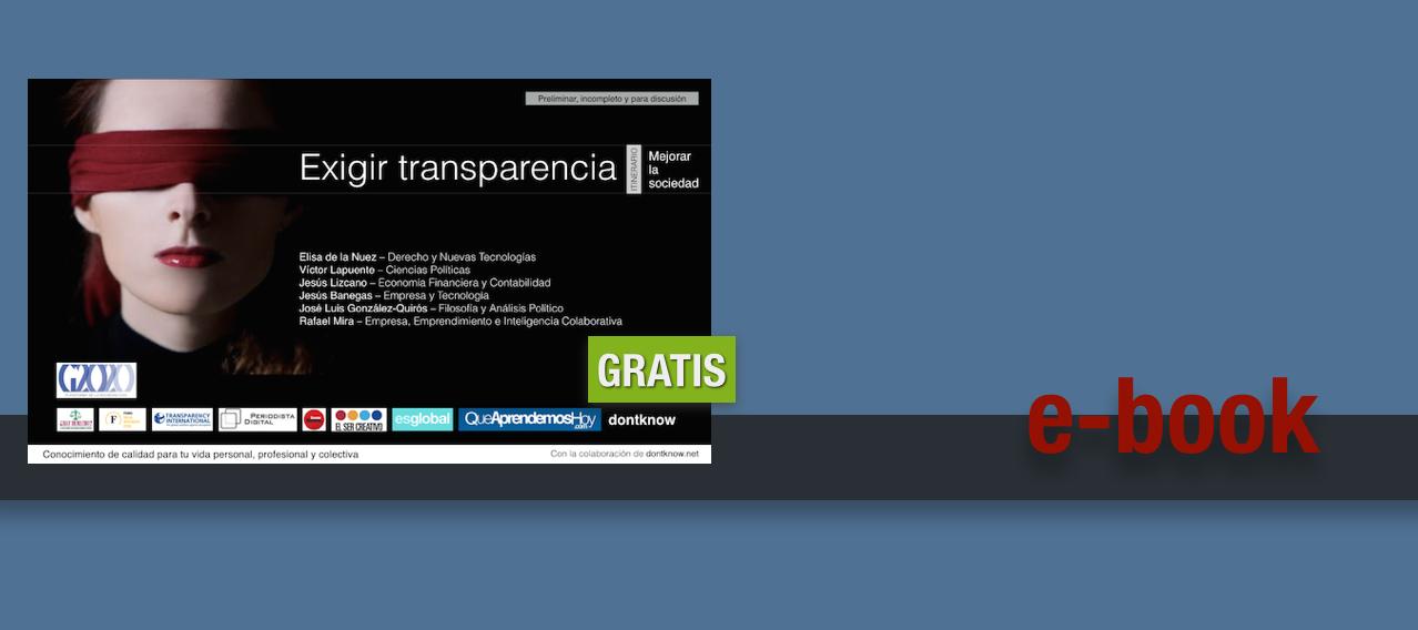 Te regalamos el ebook Exigir transparencia