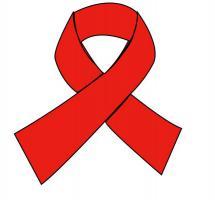 Lazo de color rojo, símbolo de la lucha contra el sida