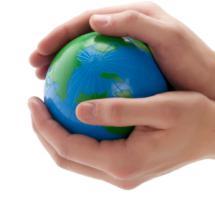 Manos que envuelven el mundo