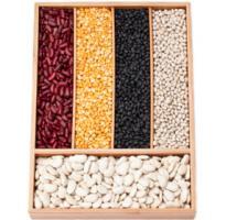Diferentes alimentos organizados por clase en un cajon