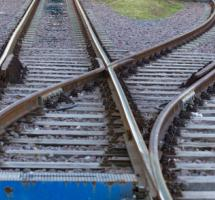 Vifurcacion de vias de tren