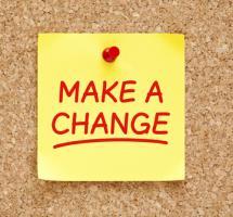"""Post it con la leyenda """"make a change"""""""