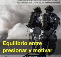 """Leer el ebook """"El equilibrio entre presionar y motivar"""" de dontknowschool"""
