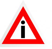 Ilustración de señal de tráfico con el signo de exclamación