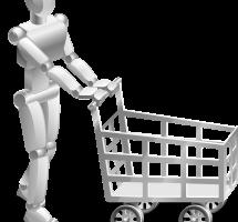 Robot haciendo la compra