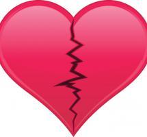 Ilustración de un corazón roto